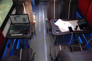 Múltiples configuraciones para trabajar durante el recorrido.